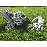 Steinfigur Gnom Troll Gargoyle aus der Erde ca. 72 kg Frostfest Wasserfest Stein