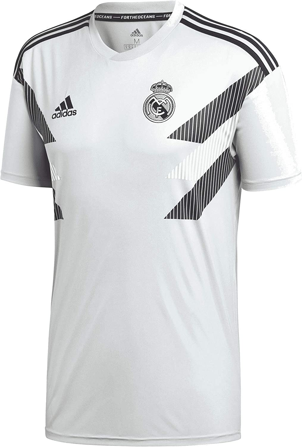 adidas Men's Real Madrid Home Pre-Match Training Soccer Jersey