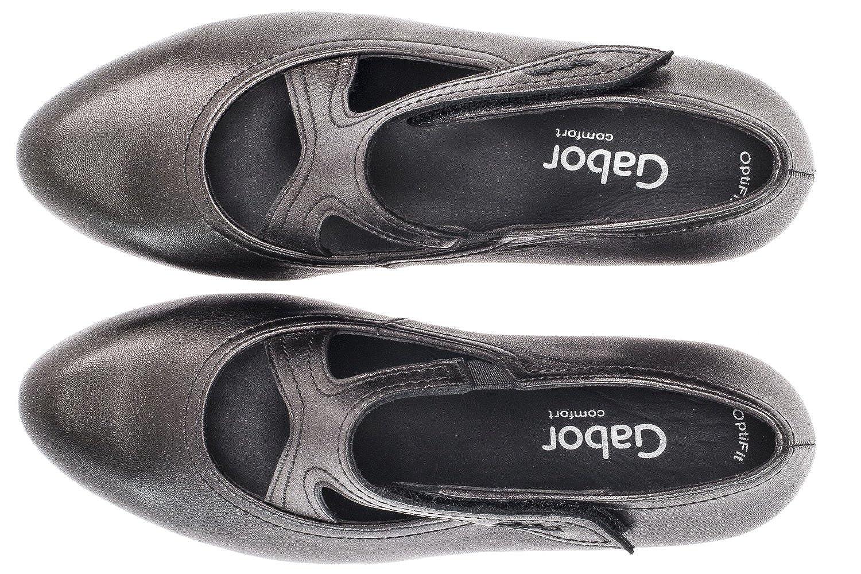 Gabor Grau - Damen Spangenpumps - Schwarz Schuhe in Übergrößen Grau Gabor 2cb542