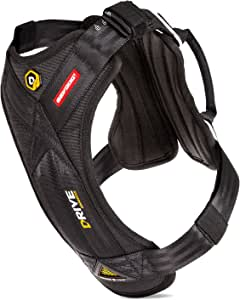 EzyDog Drive Safety Travel Dog Car Harness - Crash Tested US (FMVSS 213 Certified) - Premium Vehicle Restraint Vest Protection Comfort - Easy One Time Fit Use Car Seat Belt (Medium)