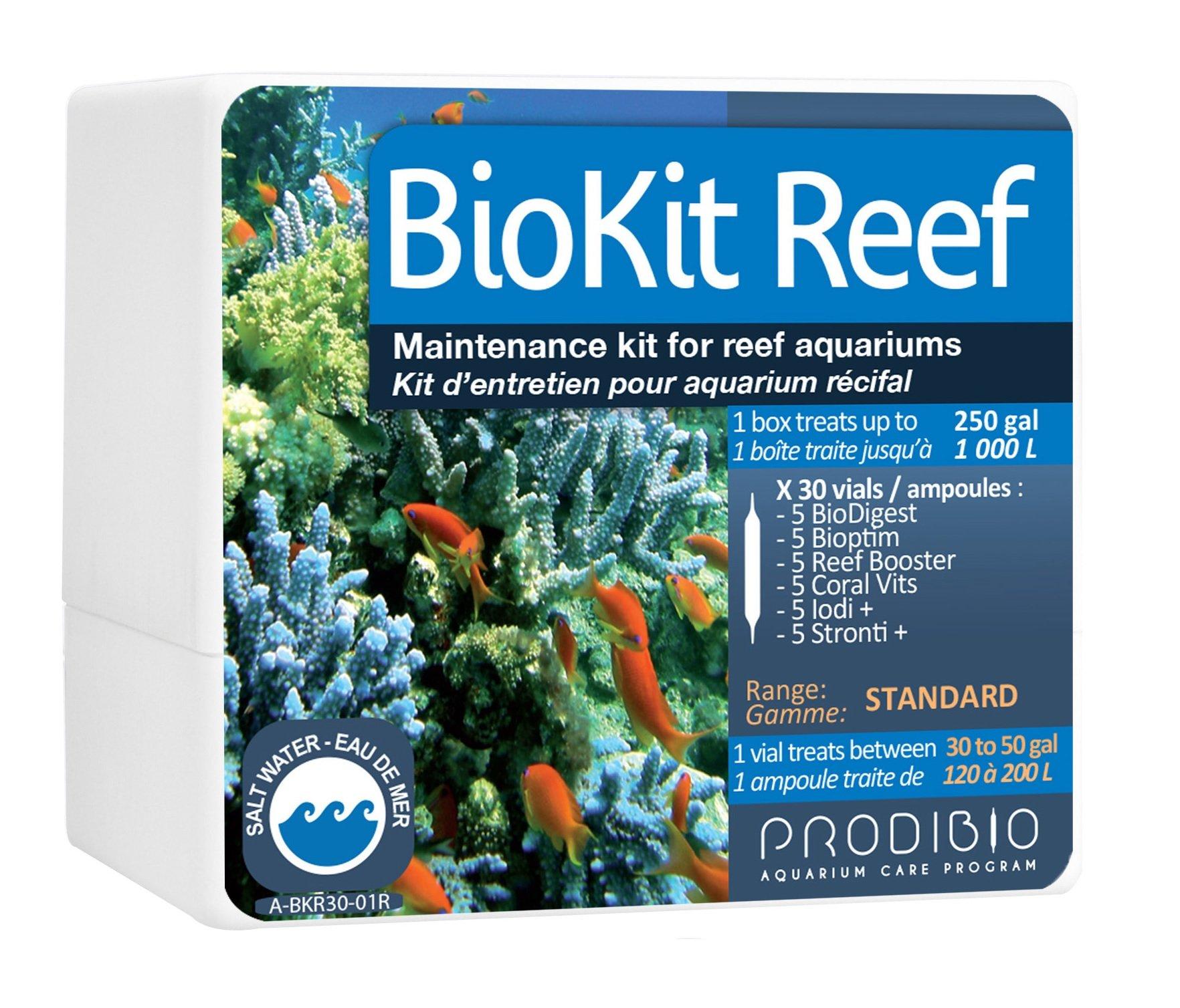 Prodibio Bio Reef Kit, Maintenance, Saltwater, 30/ 1mL vials, 30 gal and up by Prodibio