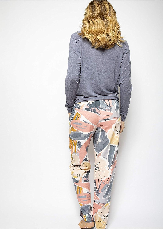 Cyberjammies Hallie 4528 Womens Grey Slouch Pyjama Top