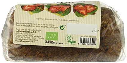 Pan germinado de centeno - La Finestra Sul Cielo - caja de 8 uds de 400 gr. (Total: 3200 gr.): Amazon.es: Alimentación y bebidas