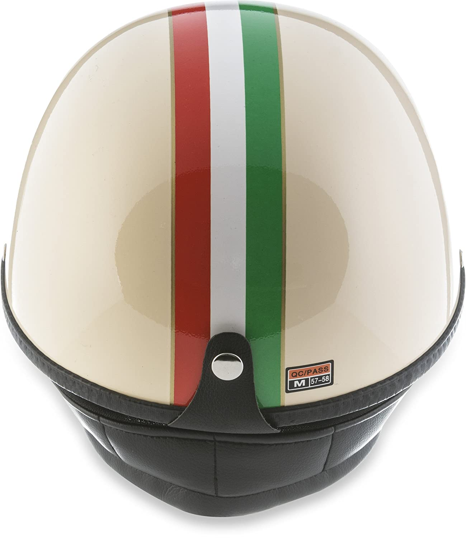 "Moto Helmets/® D22-Set /""Italy/"" /· Brain-Cap /· Halbschale Jet-Helm Motorrad-Helm Roller-Helm Scooter-Helm Bobber Mofa-Helm Chopper Retro Cruiser Vintage Pilot Biker Helmet Brille Visier /· XL 61-62cm"