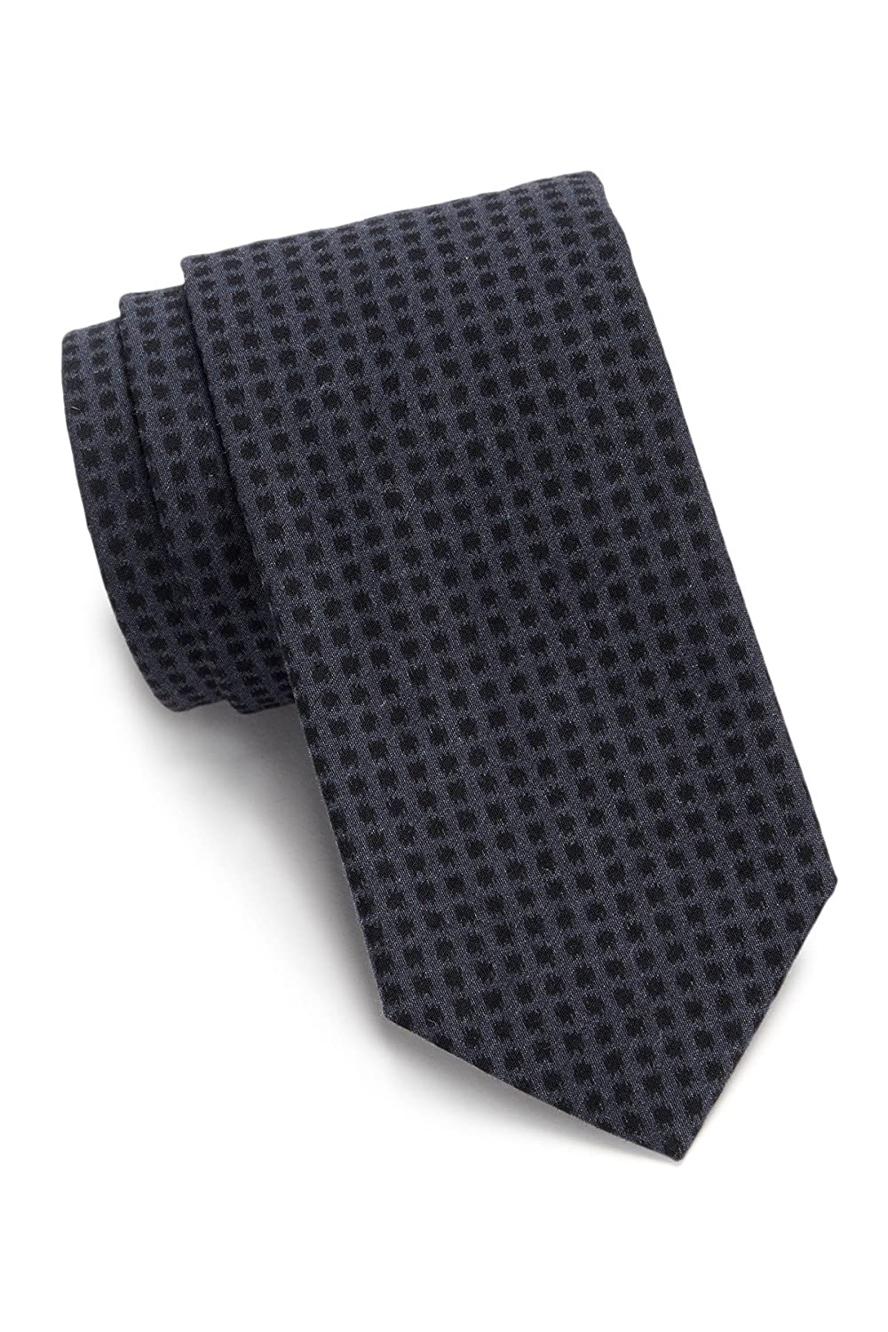 Boss Hugo Boss Micro Check Woven Italian Crafted Tie, Navy 50302108