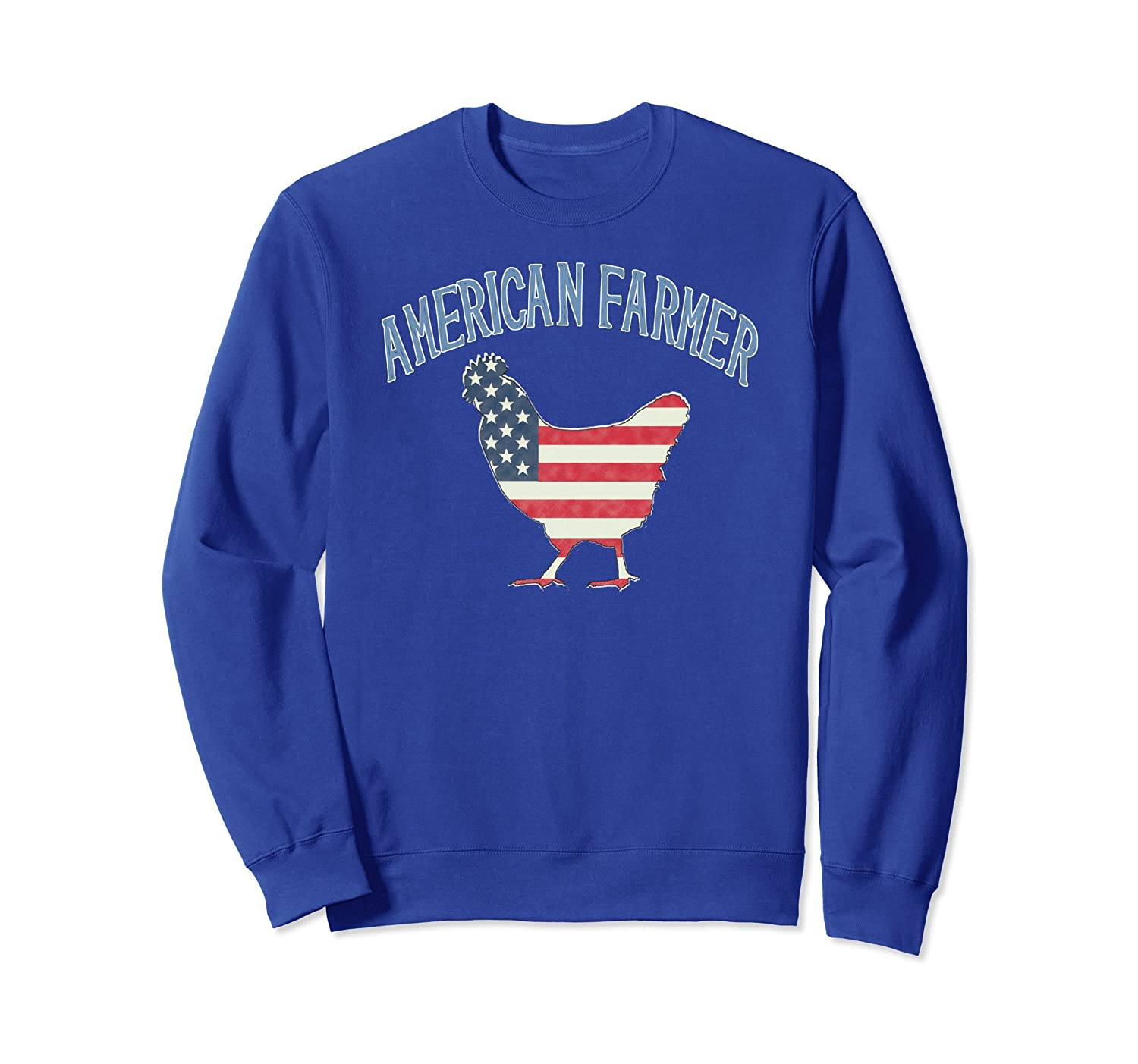 American Chicken Farmer Patriot Distressed Flag Sweatshirt-AZP