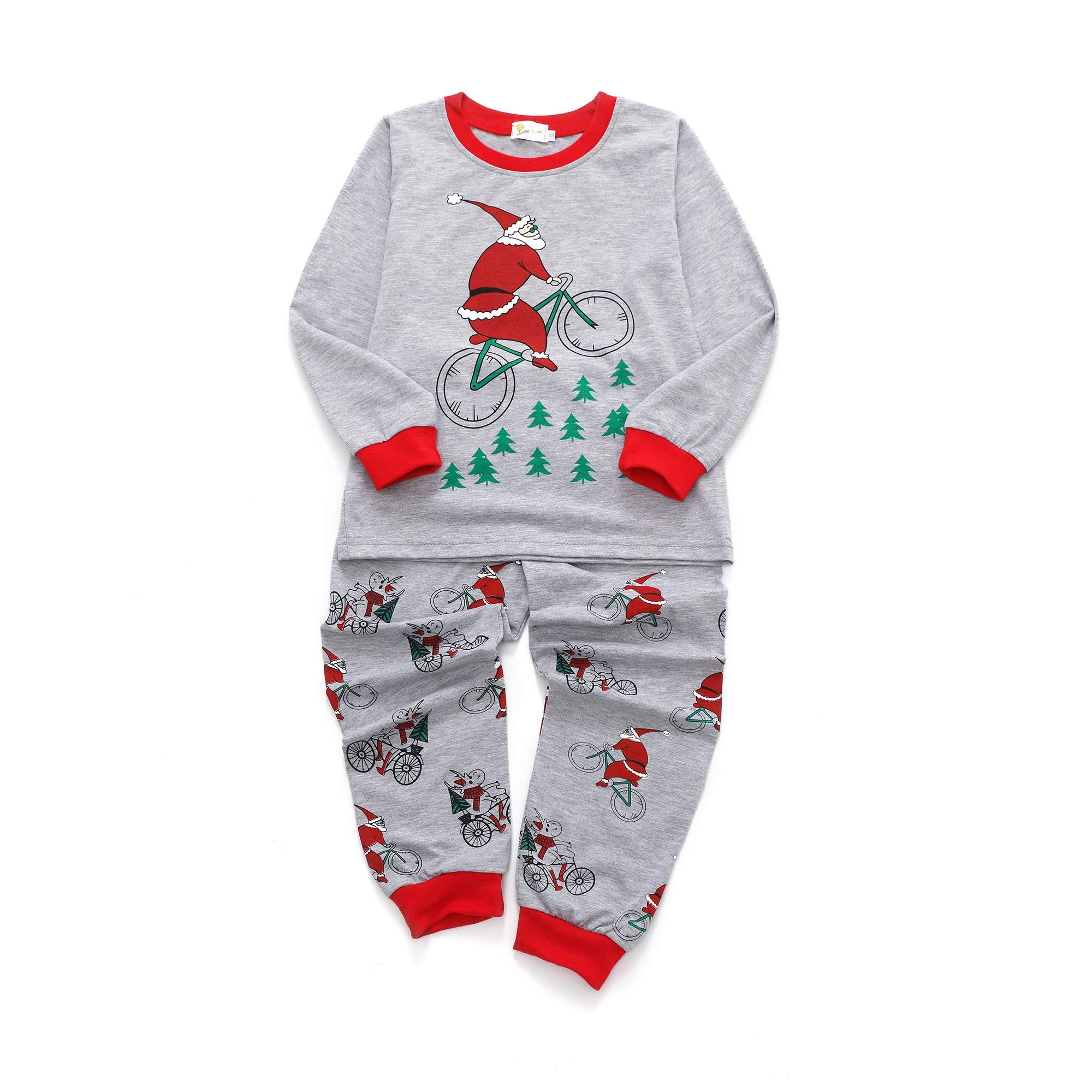 Tarkis Boys Pyjamas Set Cartoon Printed Long Sleeve Cotton PJS Sleepwear for Kids 2 to 7 Years Old (3-4 Years, 3-Santa Claus)