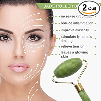 Amazon.com: Enpiria - Rodillo de jade para cara ...