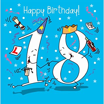 happy birthday 18 Fax Potato Happy Birthday, 18 Today Male Greetings Card: Amazon.co  happy birthday 18