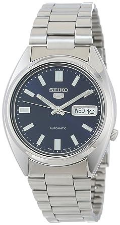 800723494 Seiko Men's SNXS77 Seiko 5 Automatic Blue Dial Stainless-Steel Bracelet  Watch