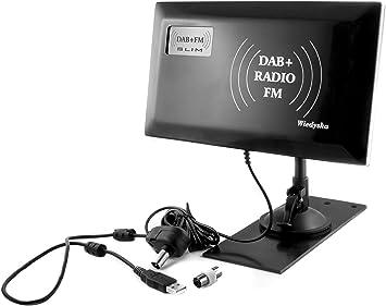 Slim Antena interior para Mobile de TV/Radio/PC Negro DAB + ...