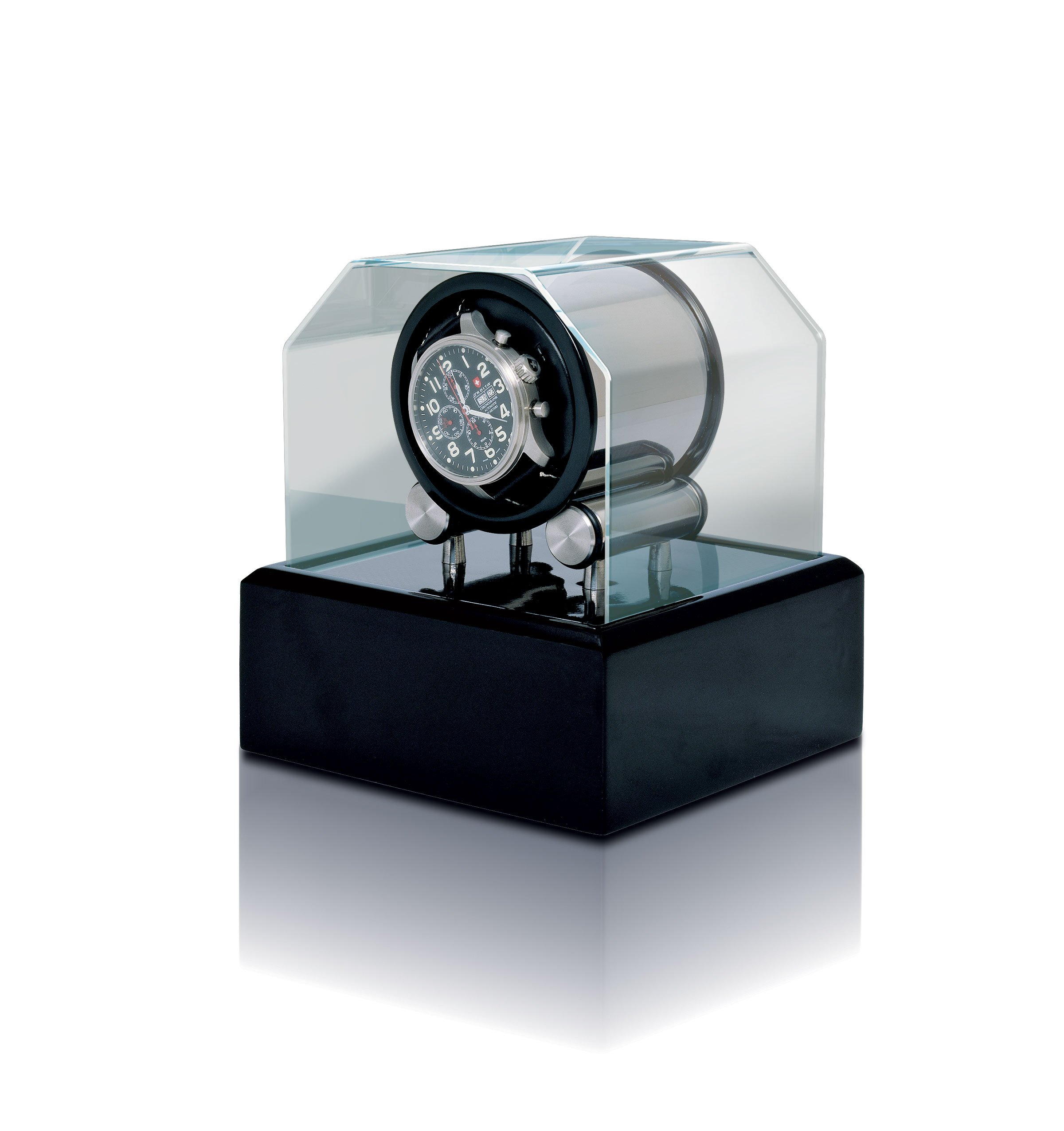 Futura 1 Watch Winder with Black Lacquer Base by Orbita