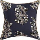Jai Siya Ram Printers Traditional Rajasthani Printed Cotton Cushion Covers Belpatti_Navy