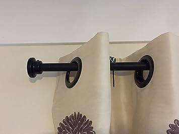 CP20) 20 mm en fer forgé avec bouton de tringle de rideau de fer ...