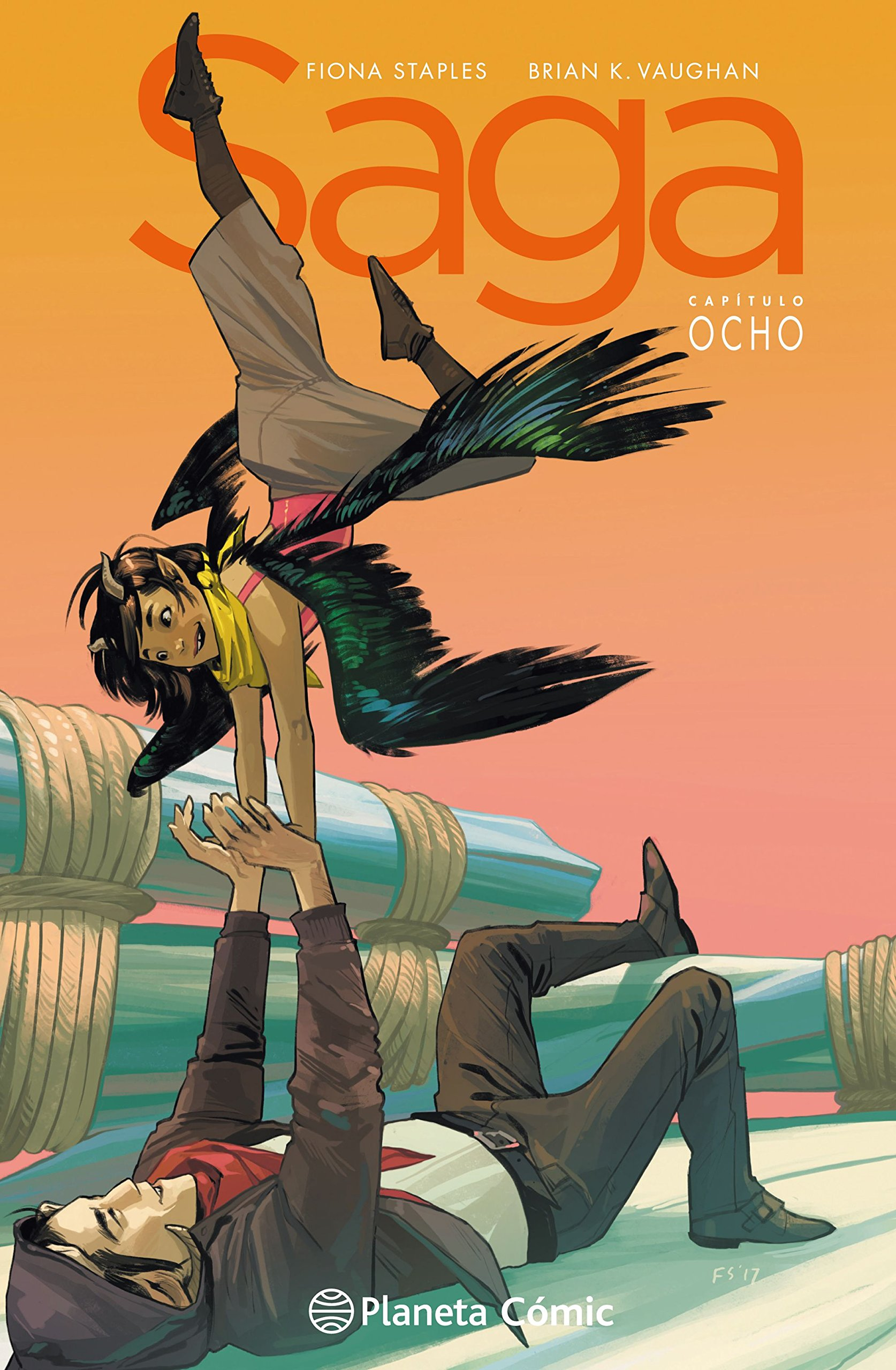 Saga nº 08 (Independientes USA) Tapa dura – 6 sep 2018 Brian K.%Vaughan Fiona Staples Diego de los Santos Planeta DeAgostini Cómics