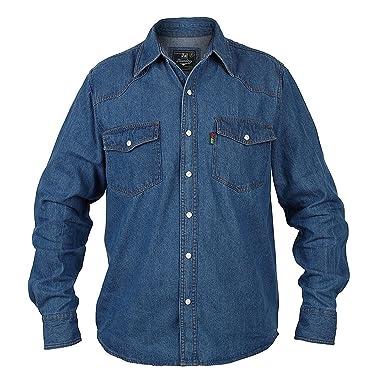 34072f676c4 Mens Duke London Denim Stonewash Classic Western Shirt  Amazon.co.uk   Clothing