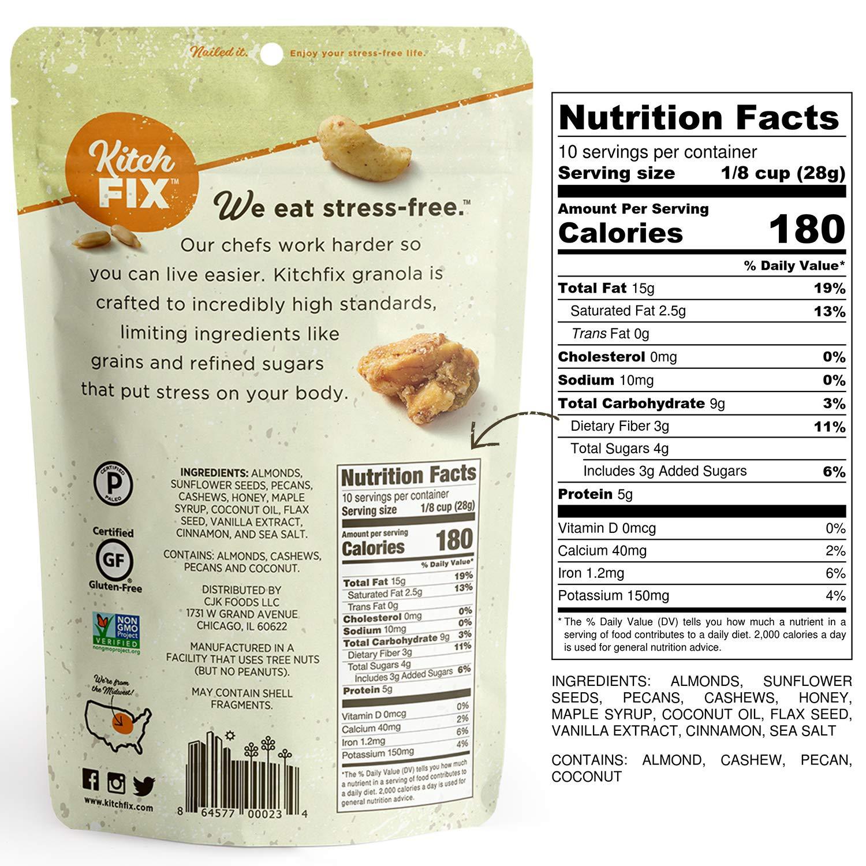 Kitchfix Granola de paleo sin granos | Proteína vegetal ...