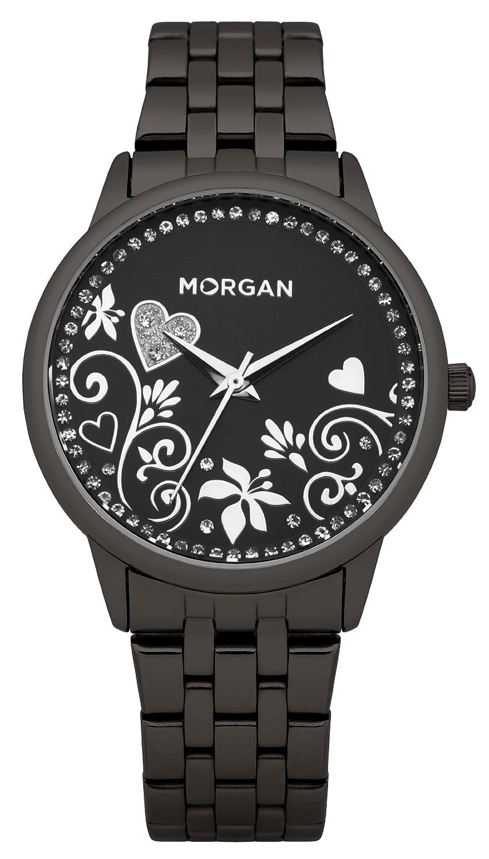 Morgan Damen-Armbanduhr Analog Quarz Schwarz M1130BM