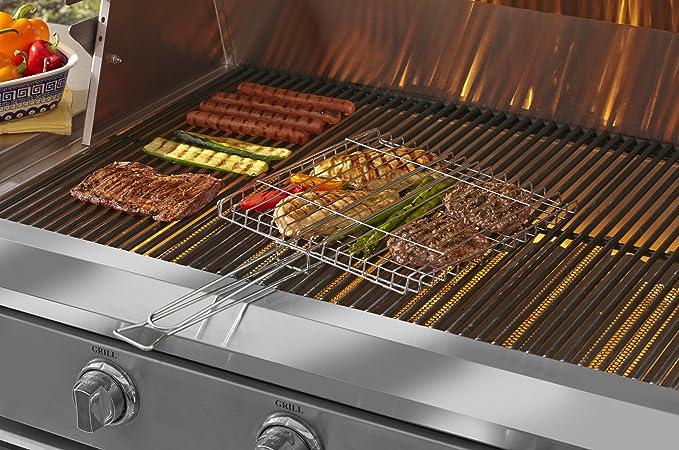 Amazon.com : Mr. Bar-B-Q 02003X Chrome Grilling Basket : Garden & Outdoor