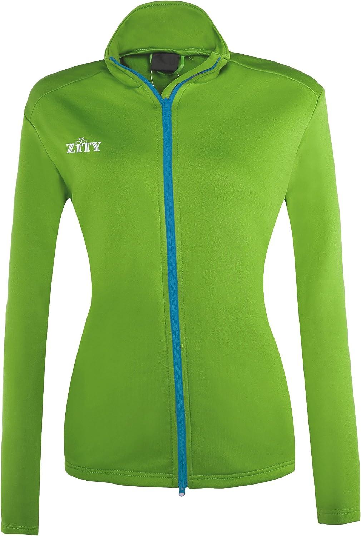 Girls Comfy Zip Up Stretchy Work Out Track Jacket Pocket