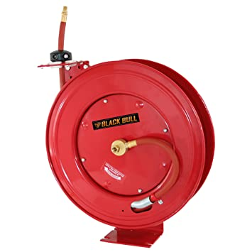 black bull ahar50 50feet retractable air hose reel with auto rewind - Hose Reels