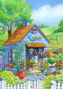 Toland Home Garden 1112116 Cottage, 12.5 x 18-Inch, Garden Flag
