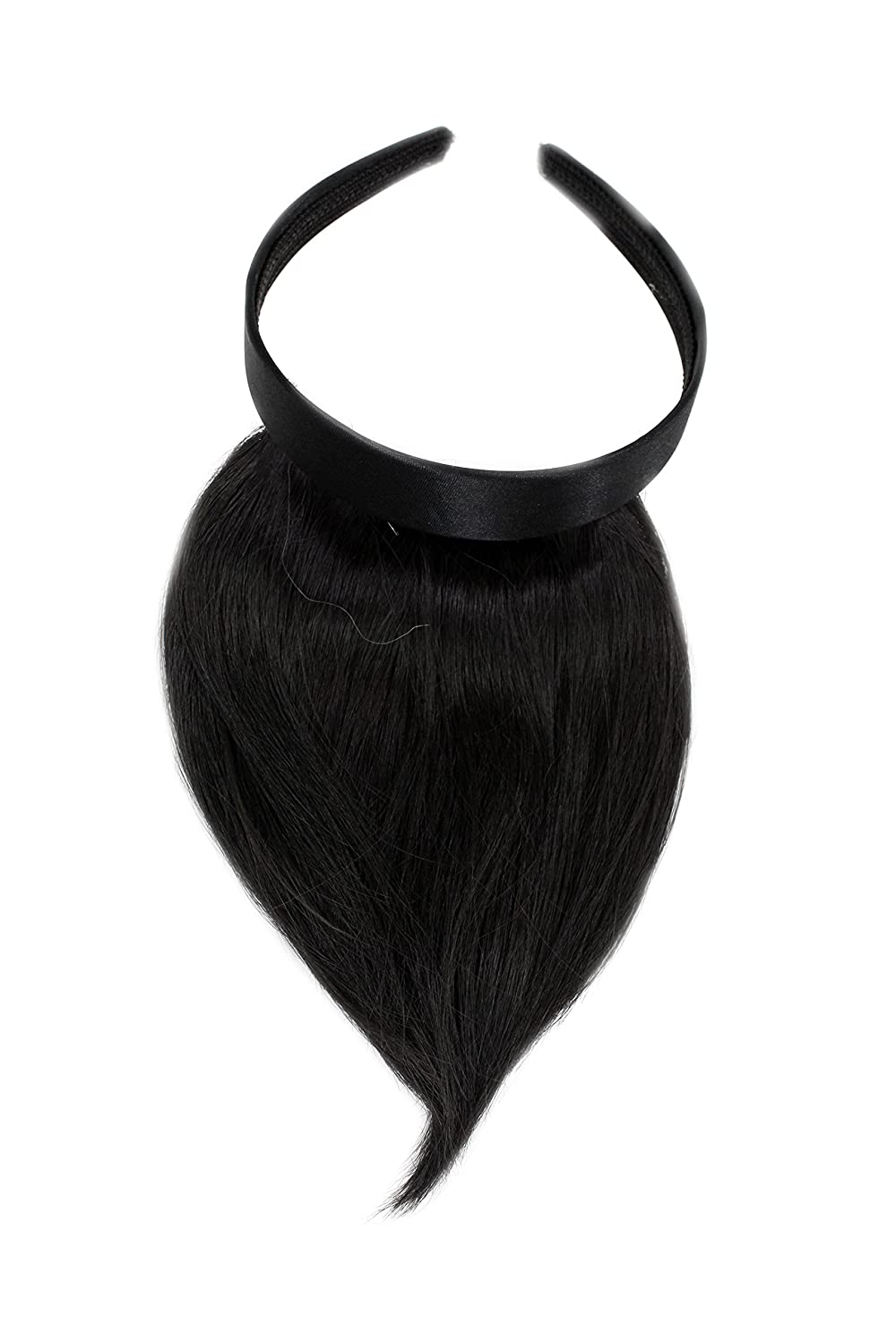 WIG ME UP ® - Peluca, flequillo de clip-in, con diadema, aparencia muy natural, castaño oscuro (3) HA073T-3 VK Event Fashion HA073T-3(384)