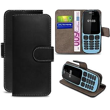 new style 5f08a e2c1d Nokia 105 (2017) Case, ProGadgetsLTD New Premium PU Leather Wallet Magnetic  Closure Flip Case Cover Pouch For Nokia 105 (2017) Version (Black)