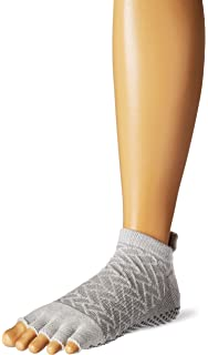 ToeSox Grip Pilates Barre Socks – Non-Slip Low Rise Half Toe for Yoga &