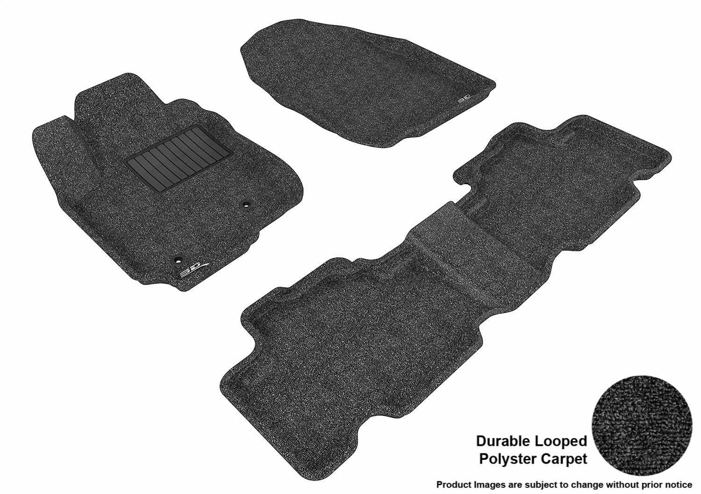 L1TY02312202 Tan 3D MAXpider Front Row Custom Fit Floor Mat for Select Toyota RAV4 Models Classic Carpet