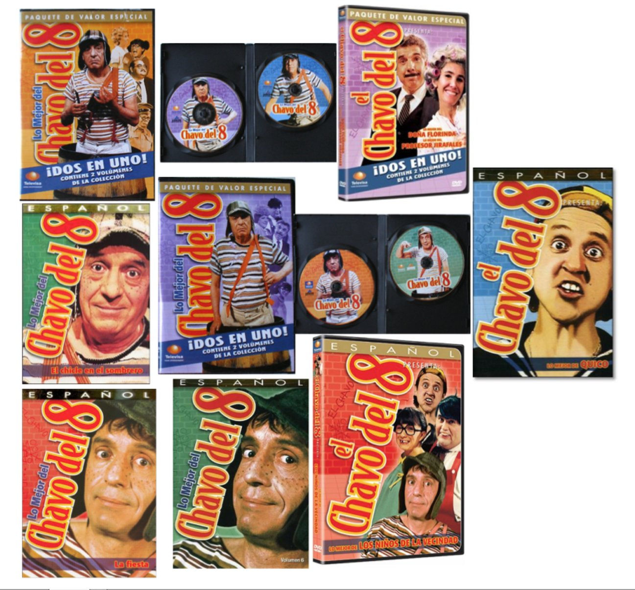 Amazon.com: 11 Different DVDs featuring El CHAVO DEL 8 - New Factory Sealed