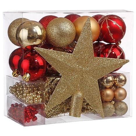 Surréaliste Lot déco Noël - Kit 44 pièces pour décoration sapin : Guirlandes XC-69