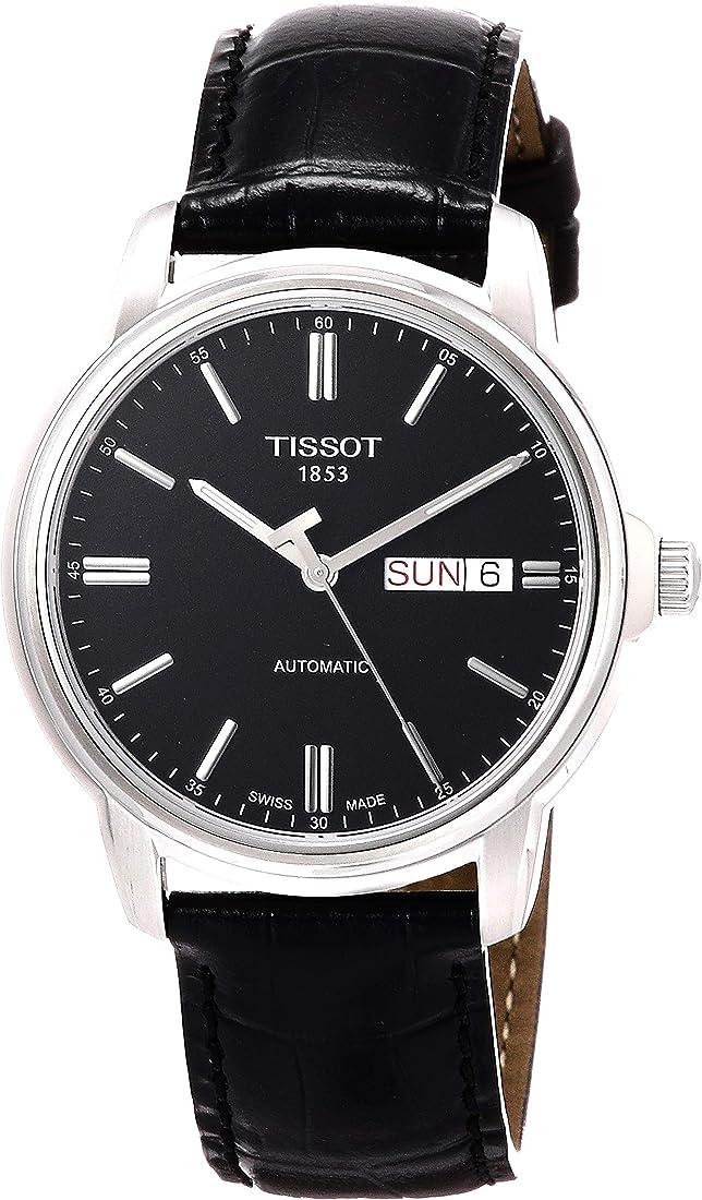 Tissot orologio analogico uomo con cinturino in pelle t065.430.16.051.00 T0654301605100