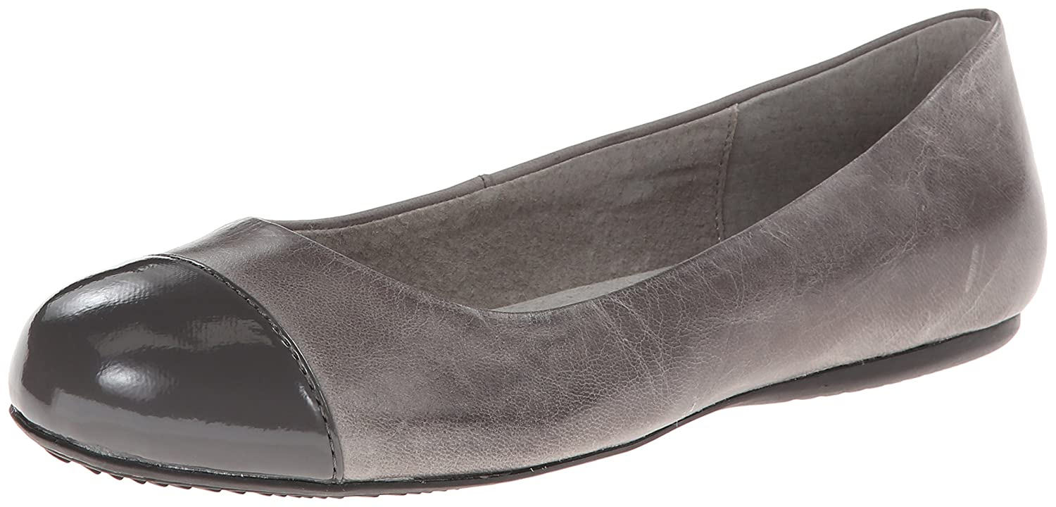 SoftWalk Womens Napa Ballet Flat B00HQQQXUW 5 B(M) US|Dark Grey