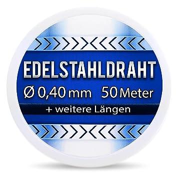 Edelstahldraht V2A - Ø 0,40 mm 50 Meter (0,12 EUR/m) Edelstahl Draht ...