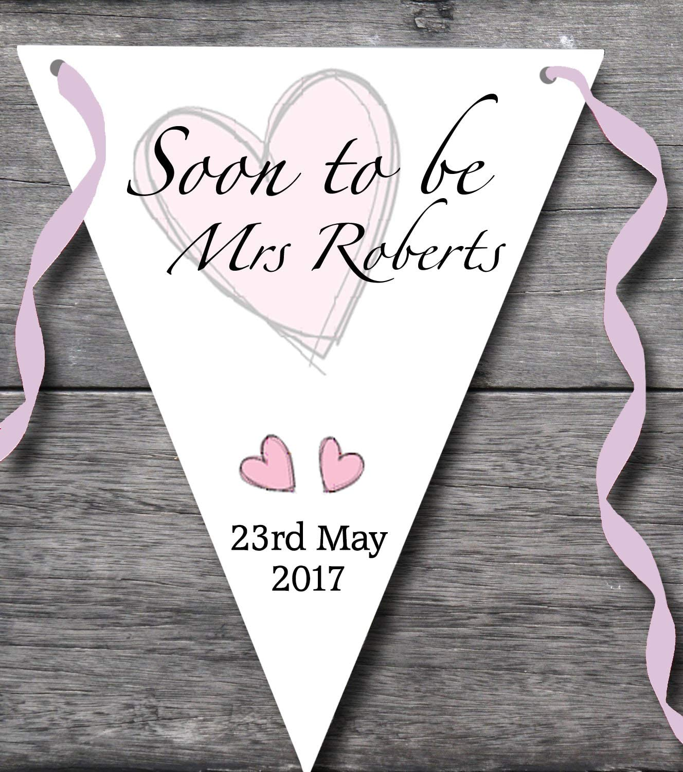 Personalised Hen Party Banner Bridal party Hen do Decoration Bride to be Bunting