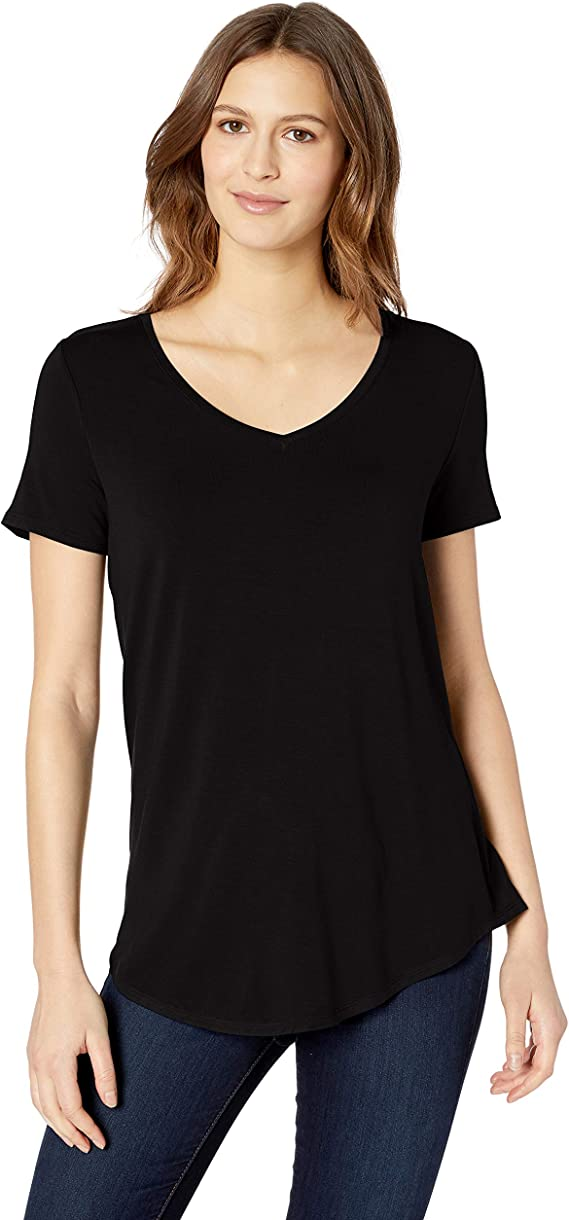 Choker V-Neck Plunge Multi Cross Strap Detail Relaxed Fit Short Sleeve Tee Top