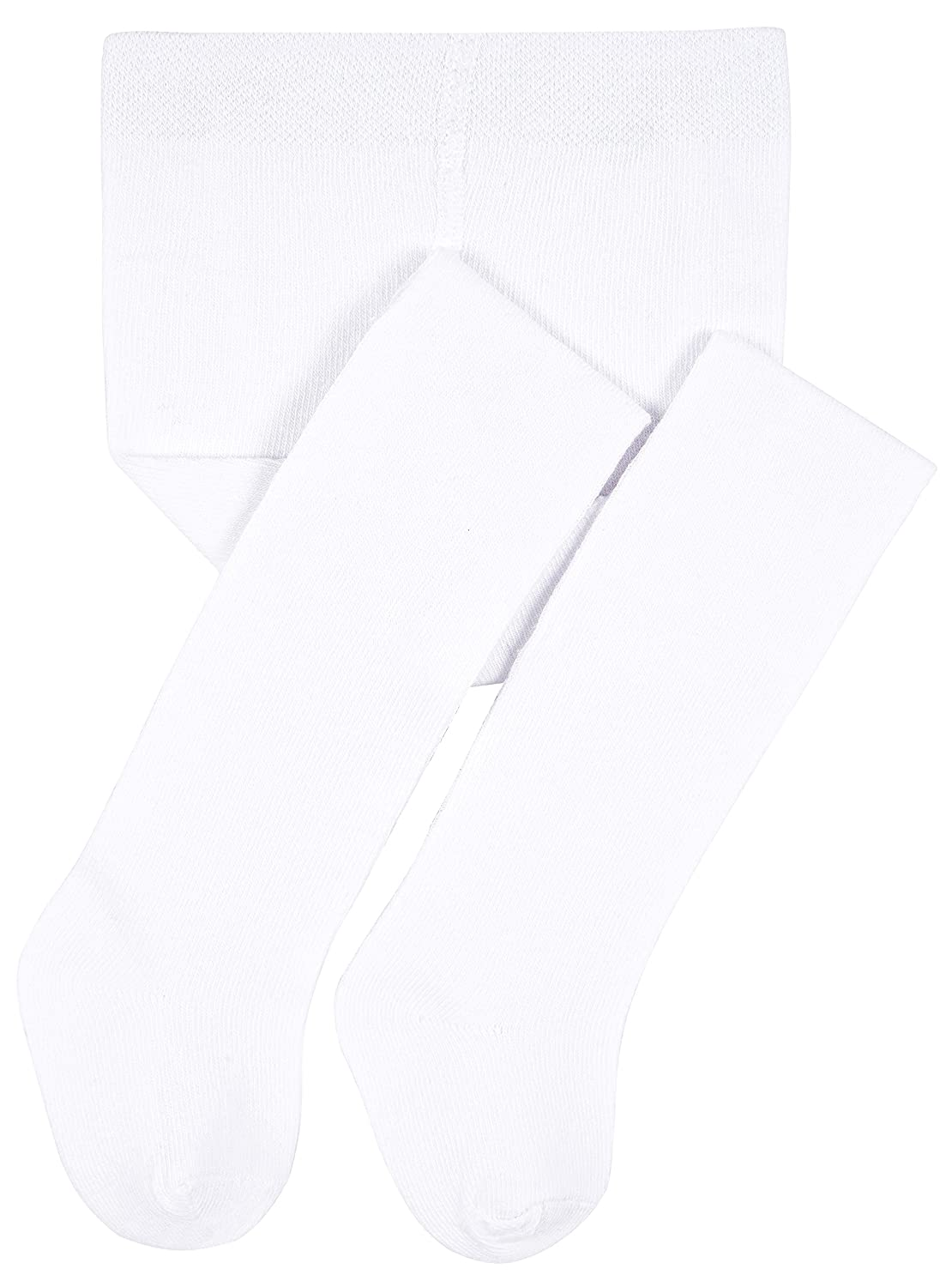 Lilax Baby Girls Basic Solid Cotton Footed Tights