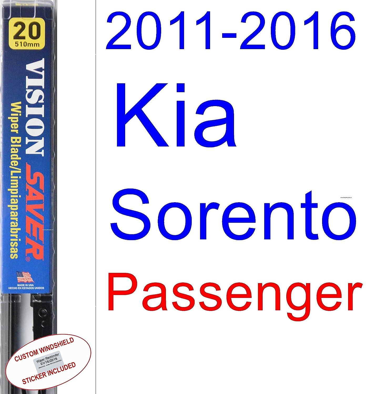 Amazon.com: 2011-2016 Kia Sorento Wiper Blade (Driver) (Saver Automotive Products-Vision Saver) (2012,2013,2014,2015): Automotive