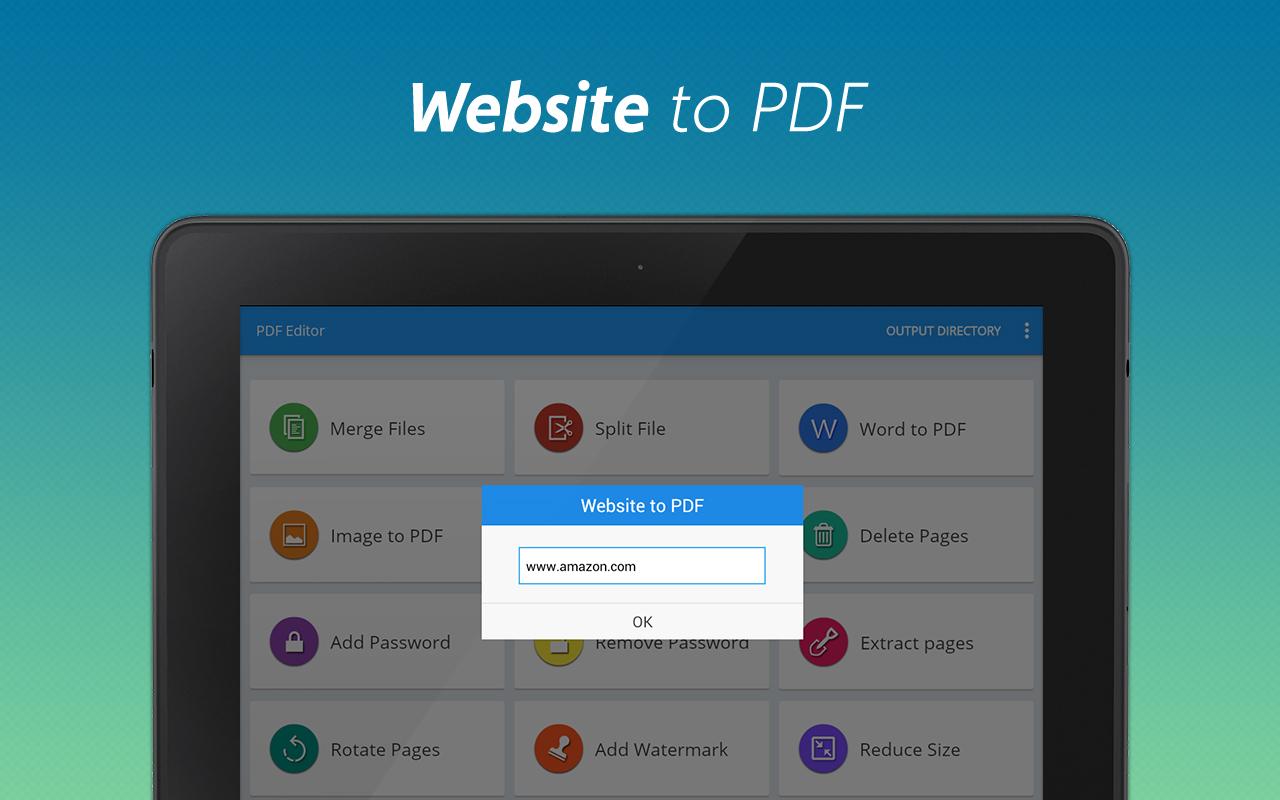 PDF editor + PDF converter - pdf merge,jpg to pdf,word to
