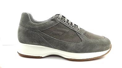 Frau 24C4 Chaussure Classique Homme en Daim/Textile - Gris - Roccia, 43 EU