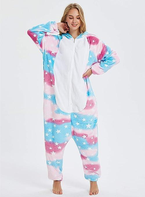 Amazon.com: Pijama de una sola pieza para mujer, adulto ...