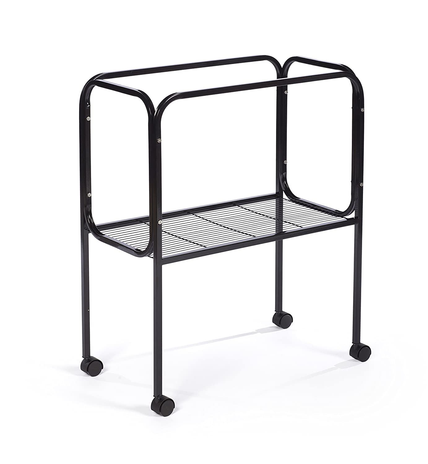 Black Prevue Pet Products 446 Bird Cage Stand for 26  x 14  Base Flight Cages, Black