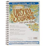 "Strathmore 400 Series Visual Watercolor Journal, 140 LB 9""x12"" Cold Press, Wire Bound, 22 Sheets"