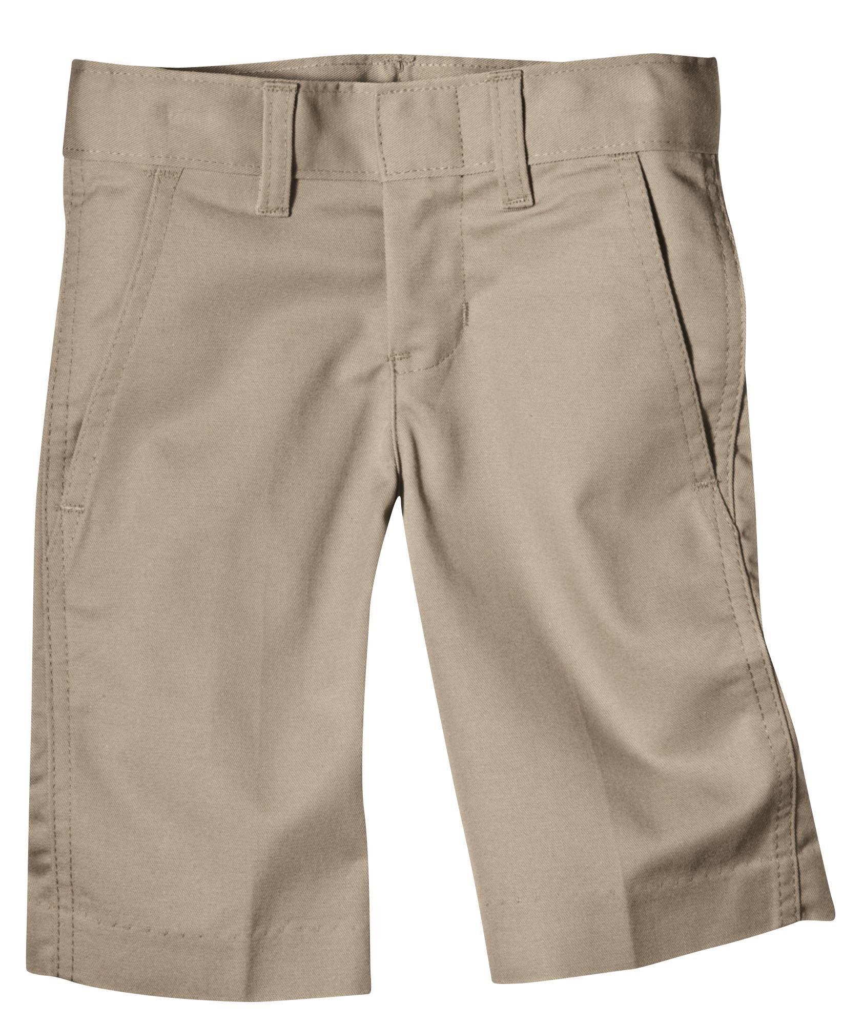 Dickies Big Boys' Flex Waist Flat Front School Uniform Short, Khaki, 14 Regular