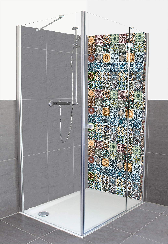 Artland A7MY - Panel de pared de aluminio compuesto para ducha, diseño homogéneo, azulejos de cerámica estampados, motivos abstractos, fotografía multicolor: Amazon.es: Juguetes y juegos