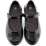 Jabasic Girls School Uniform Shoes Strap Mary Jane Dress Flats
