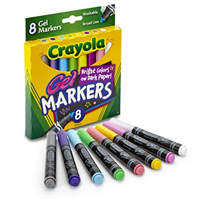 Crayola 8 Count Gel Washable Markers: Toys & Games