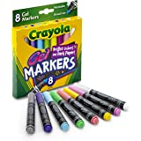 Crayola Washable Gel Markers, 8 Count, Multi Colored (58-8163)