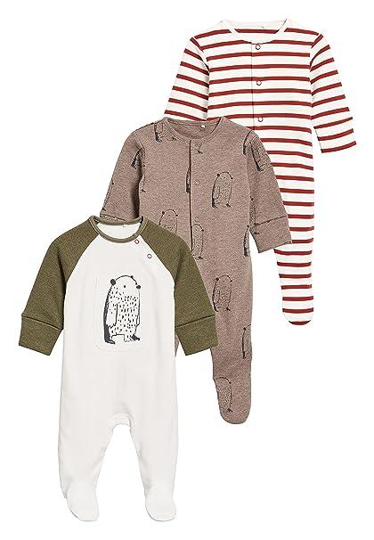 next Bebé-Niños Pack De Tres Pijamas Tipo Pelele De Osos (0 Meses - 2 Años) Crudo 1.5-2 Años: Amazon.es: Ropa y accesorios